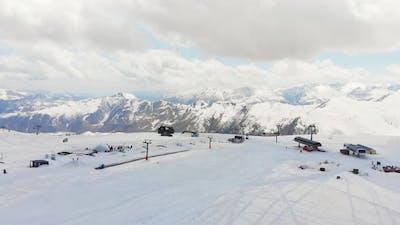 Gudauri Ski Resort Panorama In Caucasus