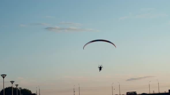 Thumbnail for Paraplane on the Blue Sky Background, Leisure Activity.