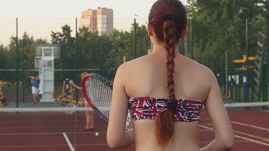 Thumbnail for Beautiful Girls Playing Tennis