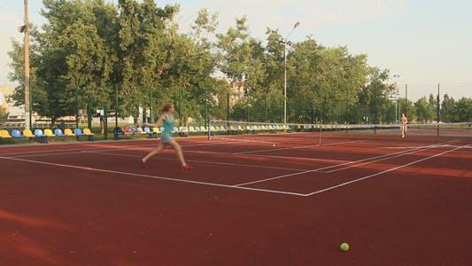 Thumbnail for Beautiful Girls Playing Tennis 11