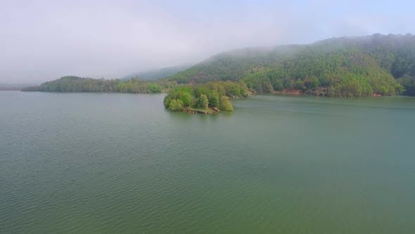 Thumbnail for Lake And Forest Drone View 2