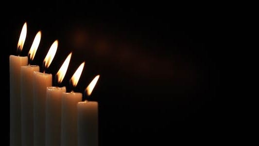 Cover Image for Candles On A Black Background 6