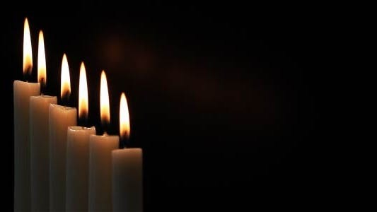 Thumbnail for Candles On A Black Background 7