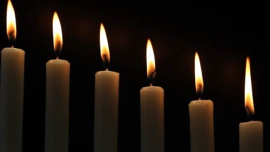 Thumbnail for Candles On A Black Background 1