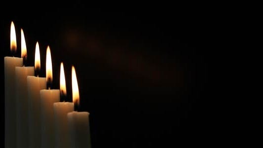Cover Image for Candles On A Black Background 5