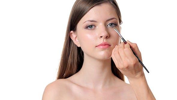 Thumbnail for Beautiful Woman Applying Make Up