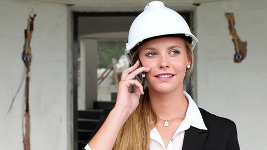 Thumbnail for Female Architect Talking On The Phone