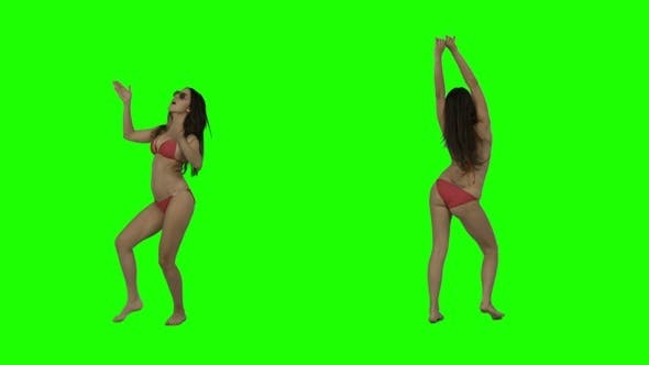 Thumbnail for Bikini Dance on Green Screen