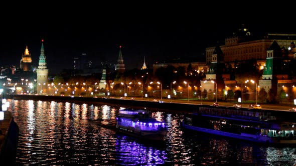 Thumbnail for Moscow Kremlin River Night 1