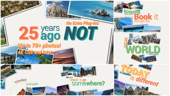 Thumbnail for Travel Photo Kinetic Typography