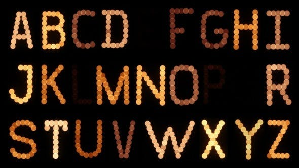 Thumbnail for Flickering Lightbulb Alphabet