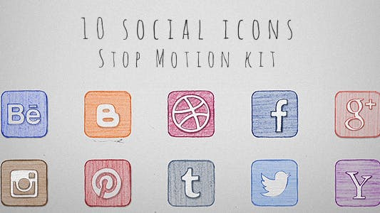 Thumbnail for Social Icons Stop Motion Kit