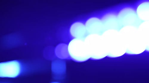 Lens Flares From a Police Car Flashers