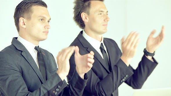 Thumbnail for Businessmen Listening Attentively Speaker