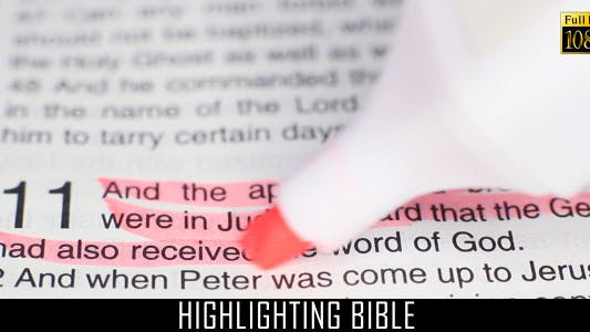 Thumbnail for Highlighting Bible 4