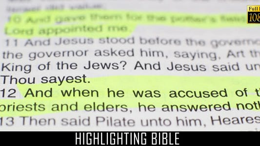Thumbnail for Highlighting Bible 5