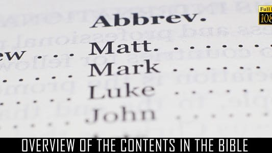 Thumbnail for Overview Of The Contents In The Bible 2