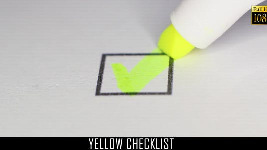 Cover Image for Yellow Checklist 3
