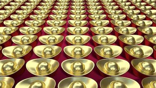 Pushing the Chinese gold ingot.