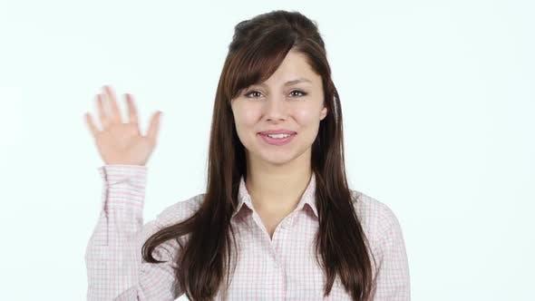 Thumbnail for Hello, Young Girl Waving Hand