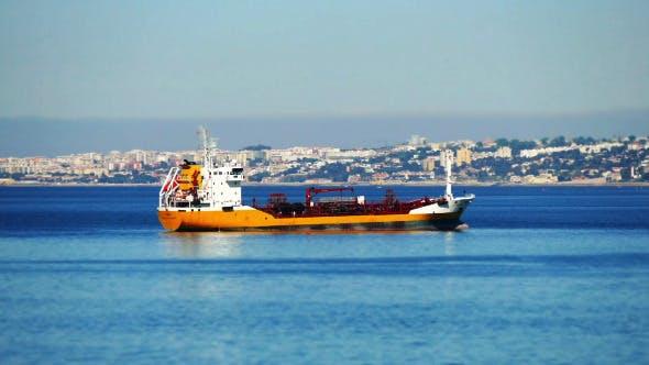 Thumbnail for Cargo Ship Anchored near Port Lisbon 838
