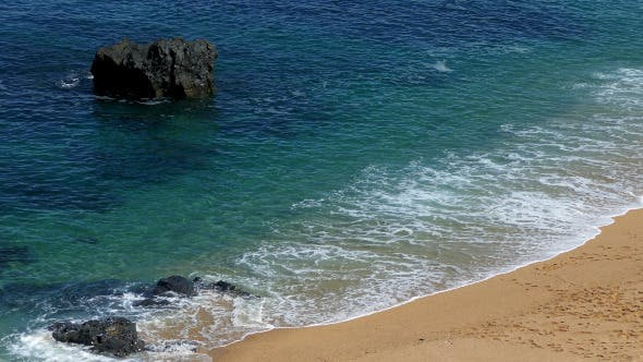 Thumbnail for Waves Crashing on Rocks and Beach 892