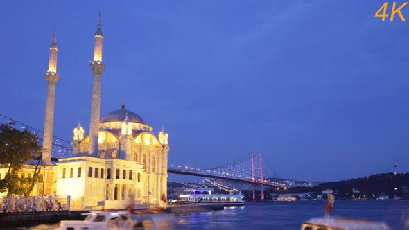 Thumbnail for Day To Night Of Mosque And Galata Bridge 2