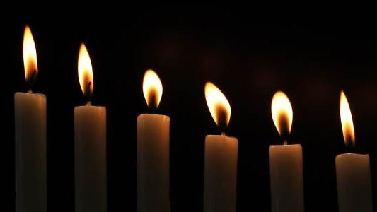 Thumbnail for Candles On A Black Background 8
