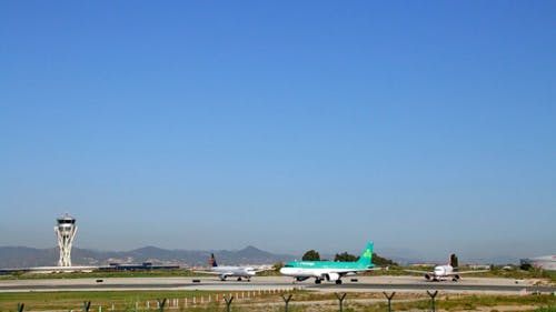 Commercial Airliners on the Runway
