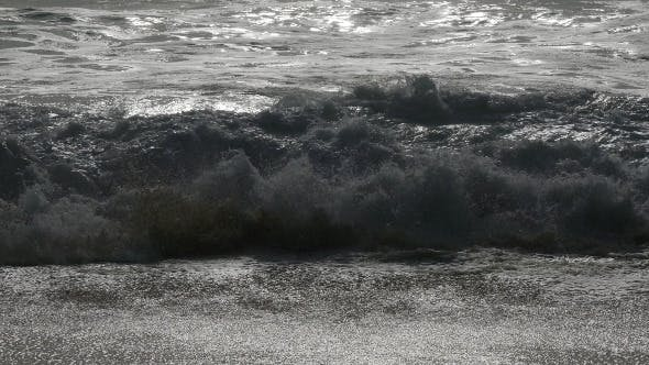 Thumbnail for Waves Crashing on Beach 938