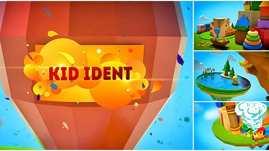 Kids Show Ident Broadcast Package/ Teens Youtube Channel/ Family TV/ Cartoon Party/ Baby Intro Tales