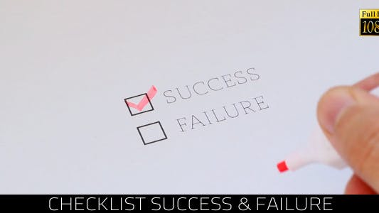 Cover Image for Checklist Success & Failure