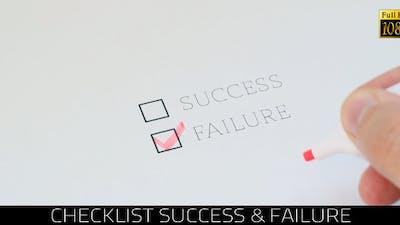 Checklist Success & Failure 2