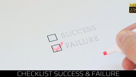 Thumbnail for Checklist Success & Failure 2