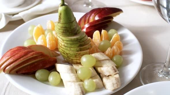 Thumbnail for Fresh Fruit Platter on Table in Restaurant