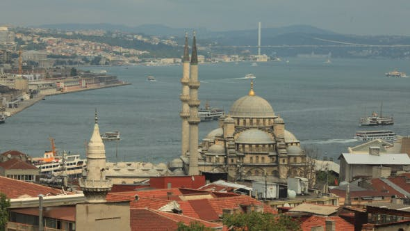 Thumbnail for Istanbul Bosphorus Bridge And Mosque