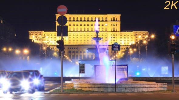 Thumbnail for Romania Parliament House Day To Night 2