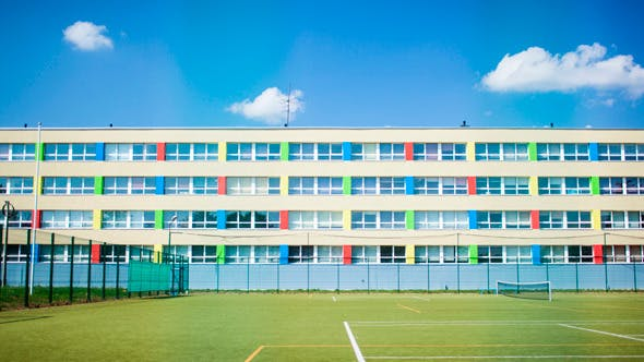 Thumbnail for Clouds In Sky Over School And Sports