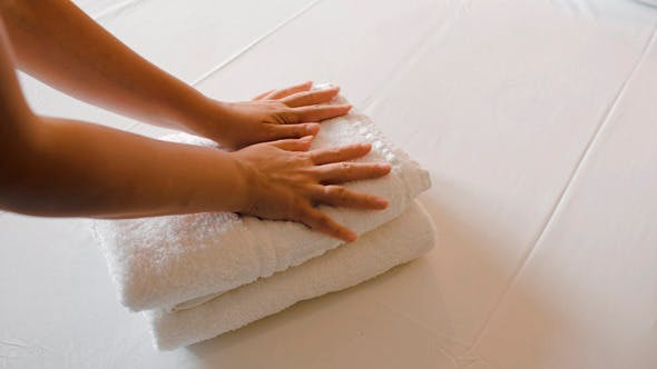Thumbnail for White Clean Towels On The Bed