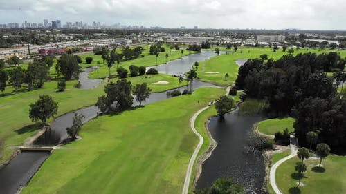 Golf course aerial video clips