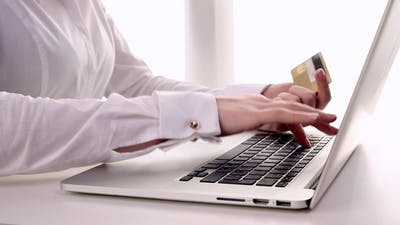 Business Woman Buying Online