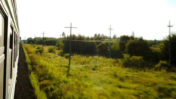 Thumbnail for Moving Train And Passing Landscape