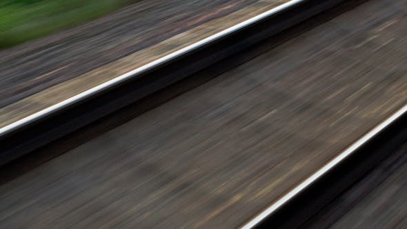 Thumbnail for Passing By Empty Railway On High Speed