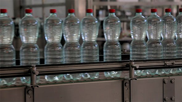 Thumbnail for Conveyer Line With Plastic Bottles on the Factory