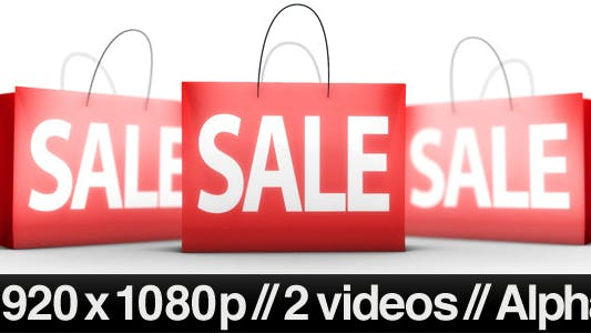 Thumbnail for 3 Shopping Bags on Sale - Series of 2 + Alpha