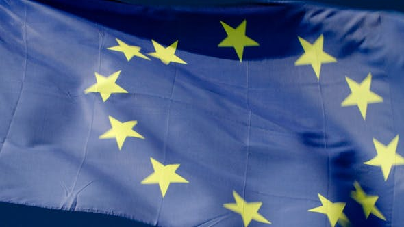 Thumbnail for Fluttering Flag Of European Union