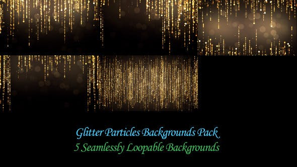 Thumbnail for Glitter Particles Backgrounds Pack