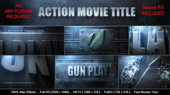 Thumbnail for Action Movie Logo