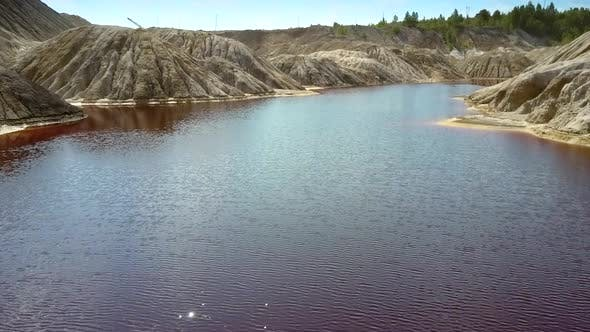 Thumbnail for Flight Over River Rippling Water at Bottom of Quarry Canyon