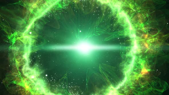 Flying Into Green Planetary Nebula